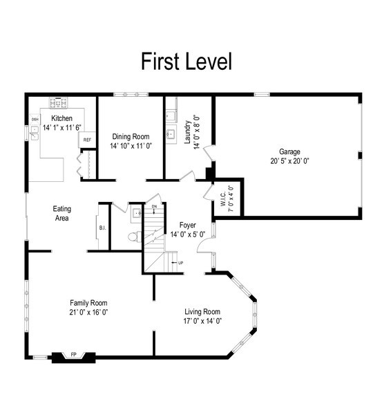 Real Estate Photography - 308 S Derbyshire, Arlington Heights, IL, 60004 - Floor Plan