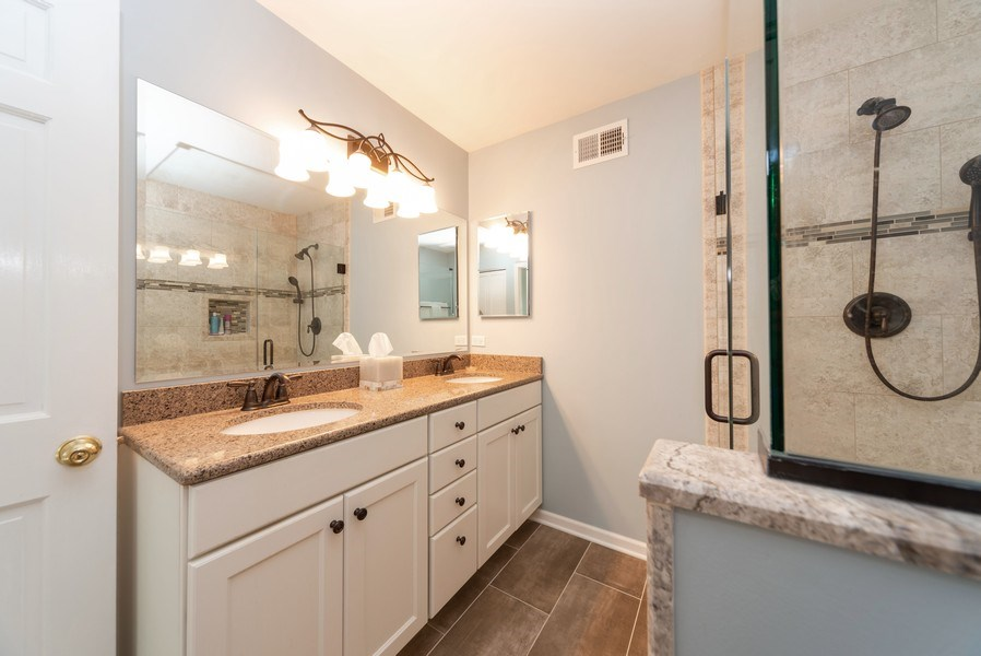 Real Estate Photography - 940 Shambliss Lane, Buffalo Grove, IL, 60089 - Master Bathroom