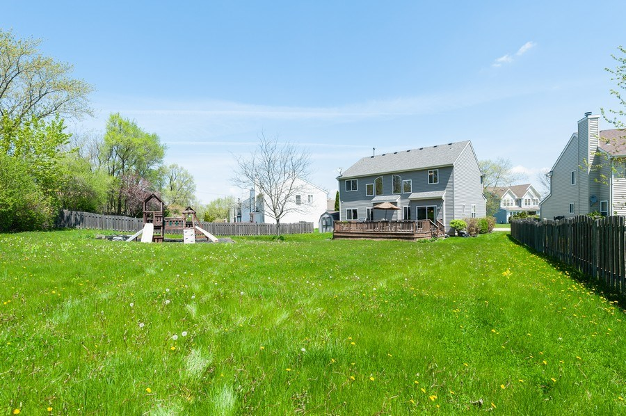 Real Estate Photography - 410 Gold Finch Circle, Lindenhurst, IL, 60046 - Rear View