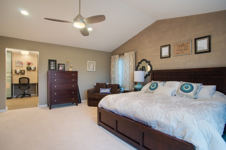 Real Estate Photography - 813 Heatherstone Drive, Schaumburg, IL, 60173 - Master Bedroom