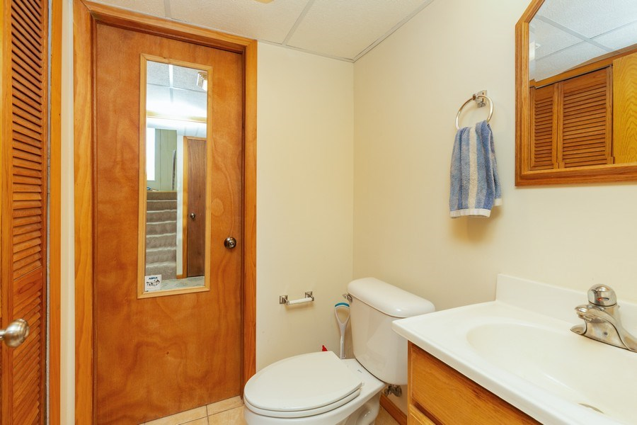 Real Estate Photography - 2408 Ridge Road, Cary, IL, 60013 - 2nd Bathroom
