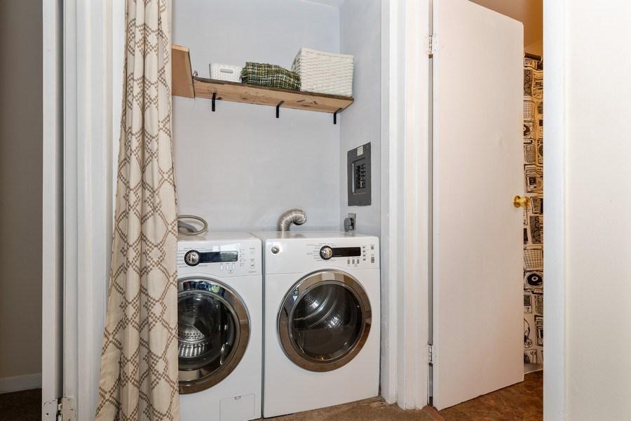 Real Estate Photography - 5544 E. Lake Drive, Unit B, Lisle, IL, 60532 - Laundry Room