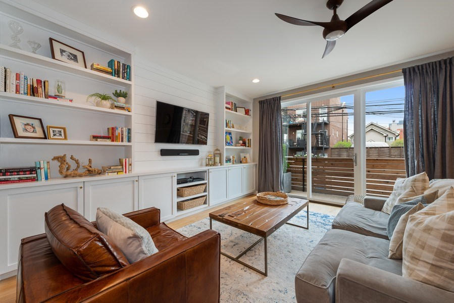 Real Estate Photography - 1341 W. Ancona Street, Chicago, IL, 60642 - Living Room