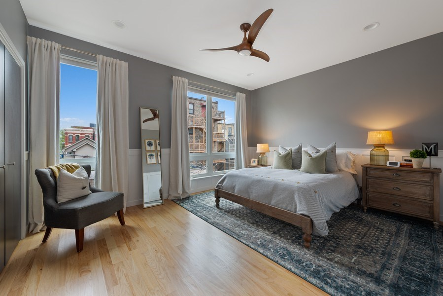 Real Estate Photography - 1341 W. Ancona Street, Chicago, IL, 60642 - Master Bedroom