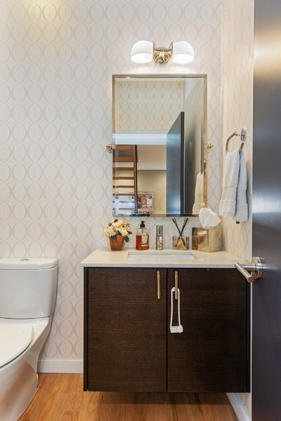 Real Estate Photography - 1341 W. Ancona Street, Chicago, IL, 60642 - Powder Room