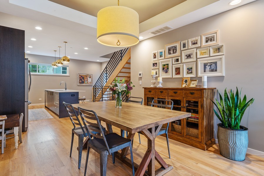 Real Estate Photography - 1341 W. Ancona Street, Chicago, IL, 60642 - Dining Room