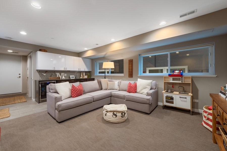 Real Estate Photography - 1341 W. Ancona Street, Chicago, IL, 60642 - Family Room