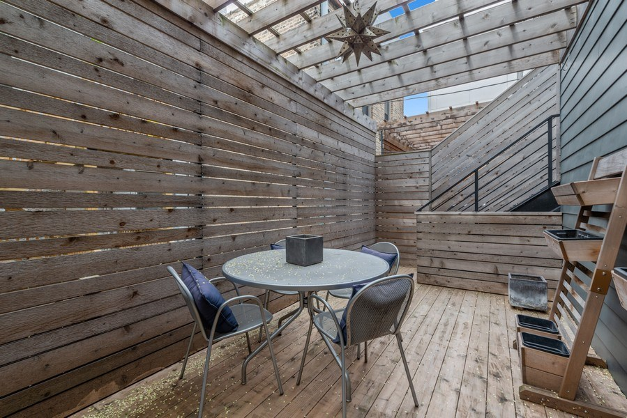 Real Estate Photography - 1341 W. Ancona Street, Chicago, IL, 60642 - Deck