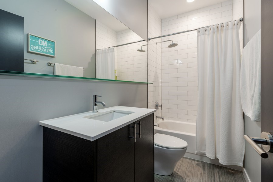Real Estate Photography - 1341 W. Ancona Street, Chicago, IL, 60642 - 2nd Bathroom