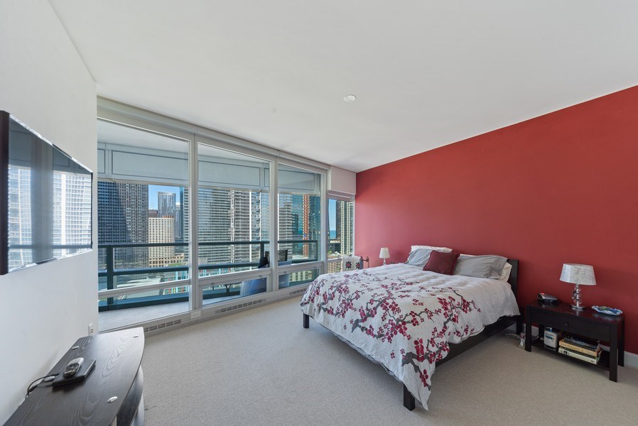 Real Estate Photography - 340 E. Randolph Street, Unit 1904, Chicago, IL, 60601 - Master Bedroom
