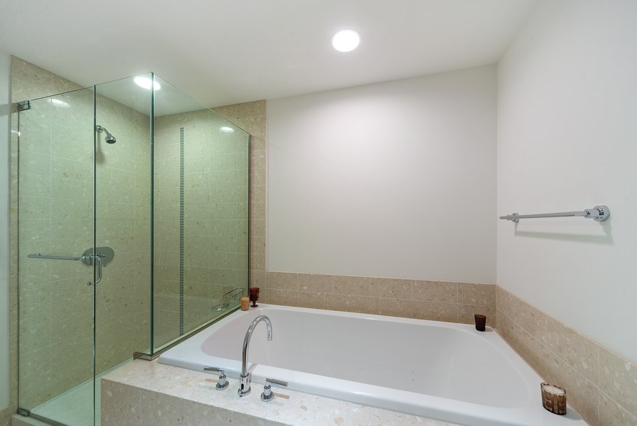 Real Estate Photography - 340 E. Randolph Street, Unit 1904, Chicago, IL, 60601 - Master Bathroom