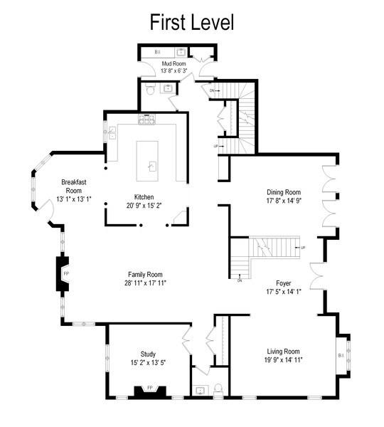 Real Estate Photography - 22332 N. GREENMEADOW Drive, Kildeer, IL, 60047 - Floor Plan