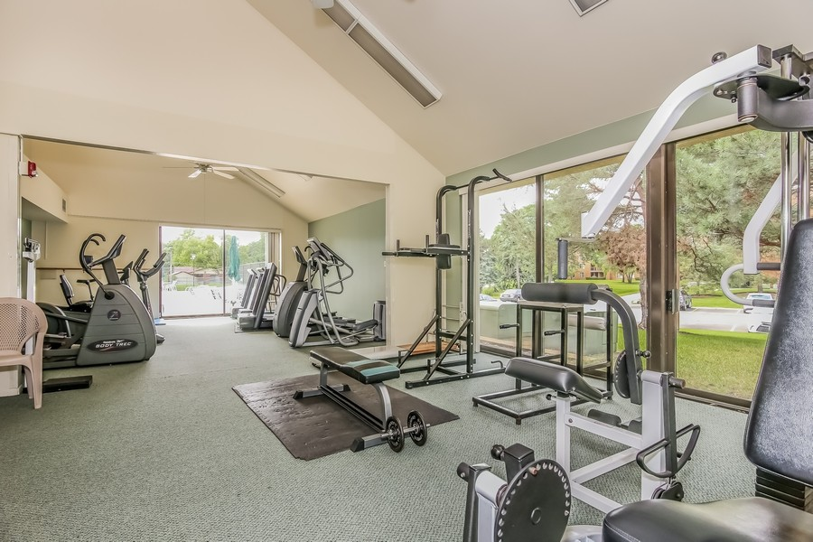 Real Estate Photography - 1505 E. Central Road, Unit 106A, Arlington Heights, IL, 60005 - Fitness Center
