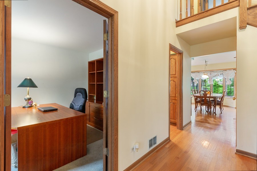 Real Estate Photography - 8738 Kentwood Court, Darien, IL, 60561 - Office just off entryway