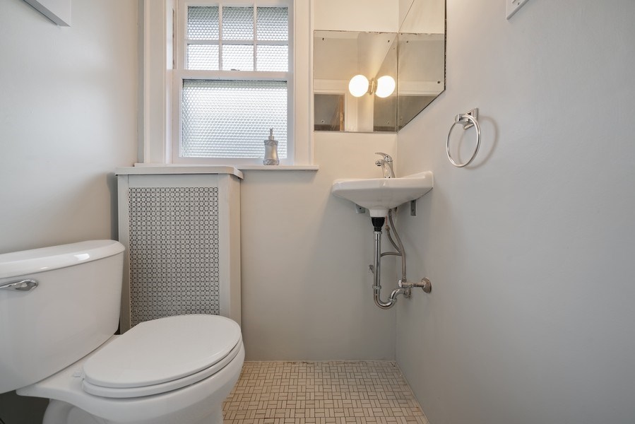 Real Estate Photography - 1207 Rossell Avenue, Oak Park, IL, 60302 - Powder Room