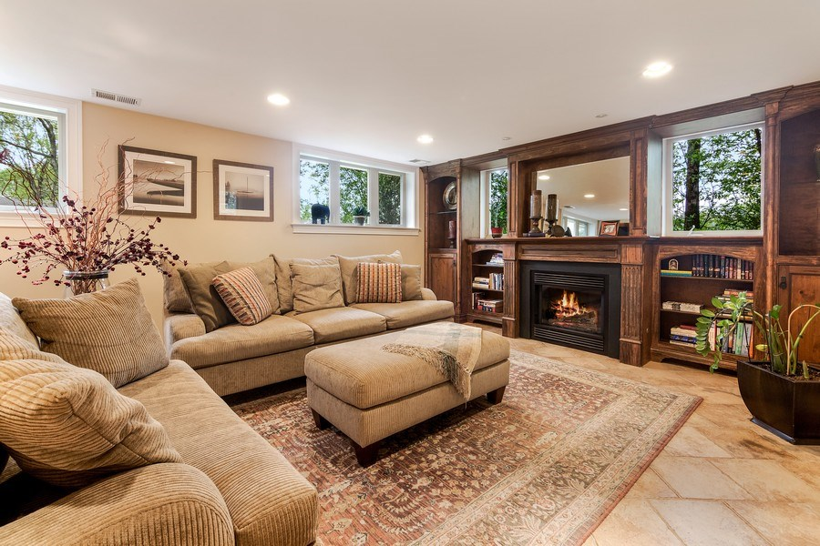 Real Estate Photography - 3703 Springdale Ave, Glenview, IL, 60025 - Living Room