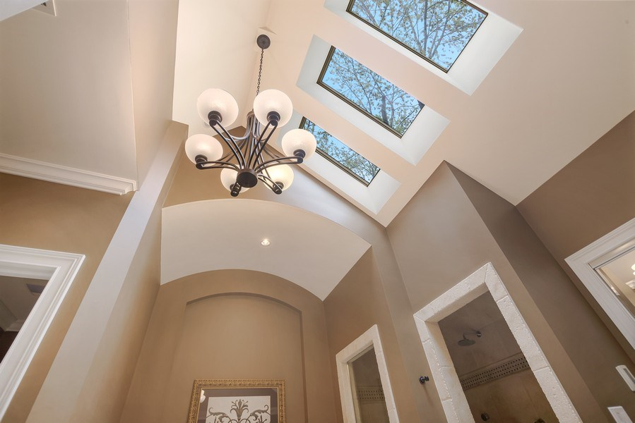 Real Estate Photography - 3703 Springdale Ave, Glenview, IL, 60025 - Master Bath Ceiling with Skylights