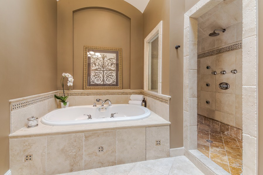 Real Estate Photography - 3703 Springdale Ave, Glenview, IL, 60025 - Master Bathroom
