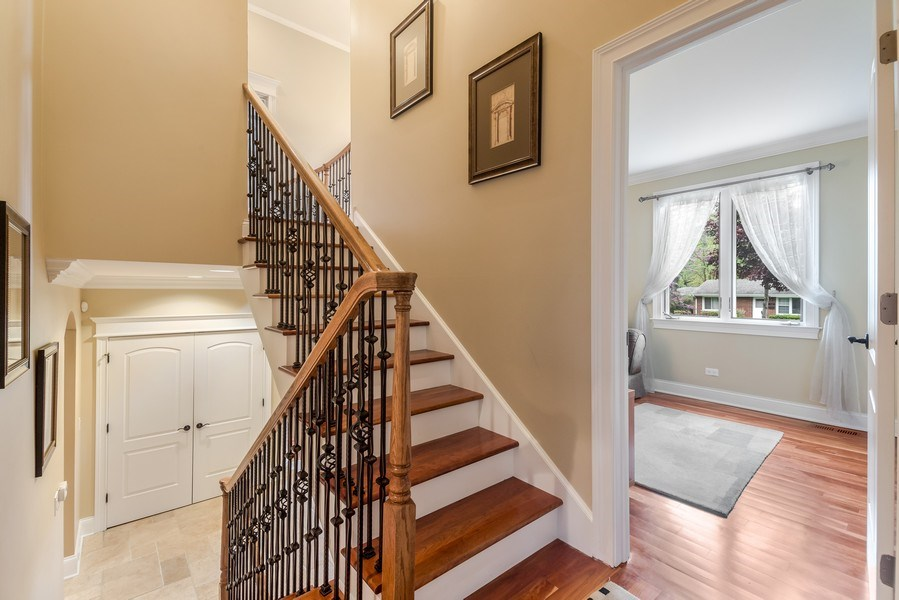 Real Estate Photography - 3703 Springdale Ave, Glenview, IL, 60025 - Main Staircase