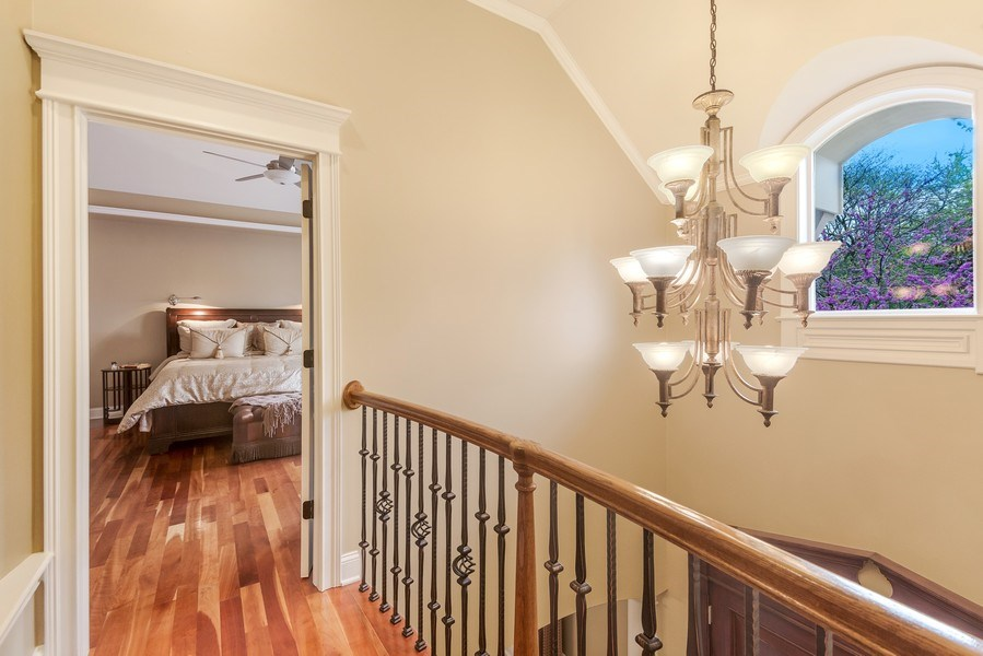 Real Estate Photography - 3703 Springdale Ave, Glenview, IL, 60025 - Open Walkway to Master Suite