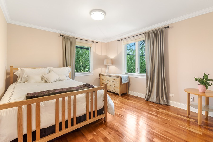 Real Estate Photography - 3703 Springdale Ave, Glenview, IL, 60025 - Bedroom 2