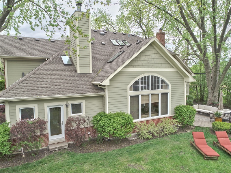 Real Estate Photography - 3703 Springdale Ave, Glenview, IL, 60025 - Aerial View