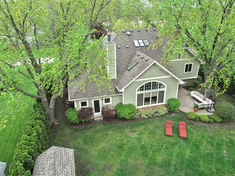 Real Estate Photography - 3703 Springdale Ave, Glenview, IL, 60025 - Rear of Home/Yard/Patio