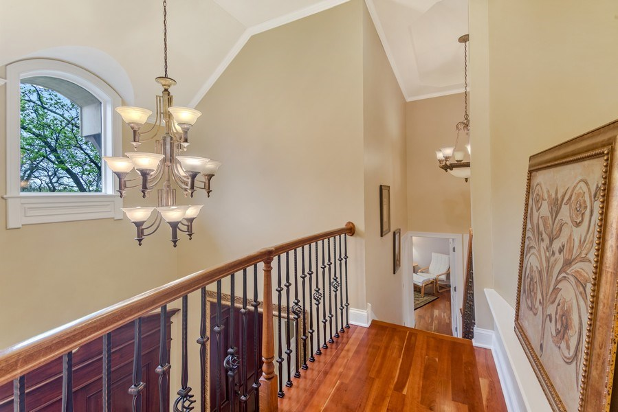 Real Estate Photography - 3703 Springdale Ave, Glenview, IL, 60025 - Foyer open to below