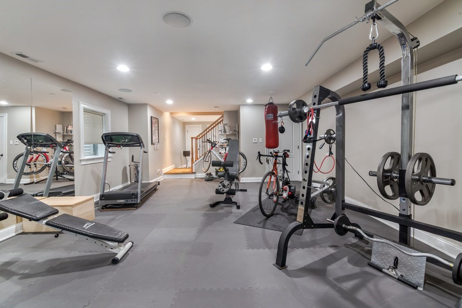 Real Estate Photography - 3703 Springdale Ave, Glenview, IL, 60025 - Basement Work out Area