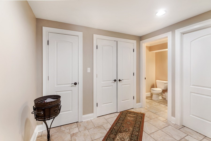 Real Estate Photography - 3703 Springdale Ave, Glenview, IL, 60025 - Basement with Half Bath