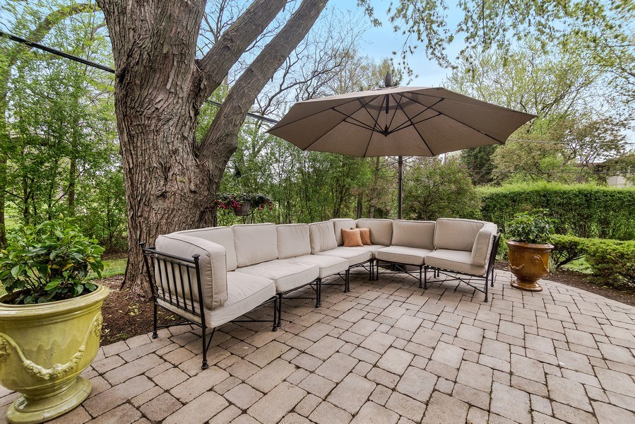Real Estate Photography - 3703 Springdale Ave, Glenview, IL, 60025 - Gorgeous Private Patio