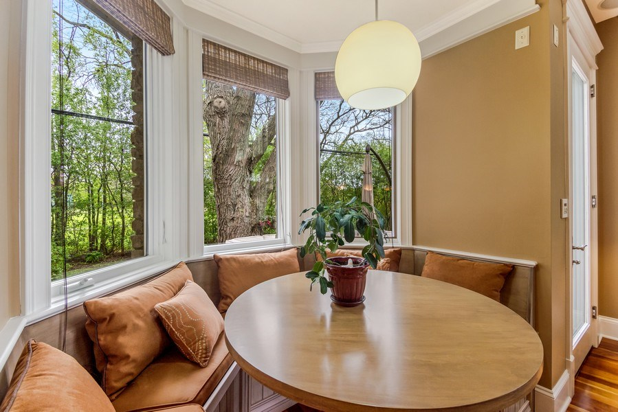 Real Estate Photography - 3703 Springdale Ave, Glenview, IL, 60025 - Breakfast Nook