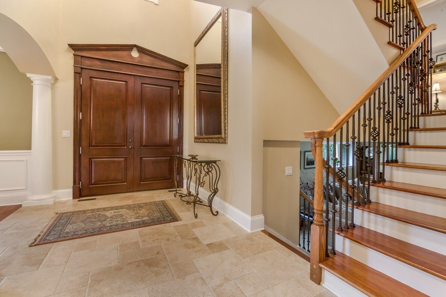 Real Estate Photography - 3703 Springdale Ave, Glenview, IL, 60025 - Foyer/Main Staircase