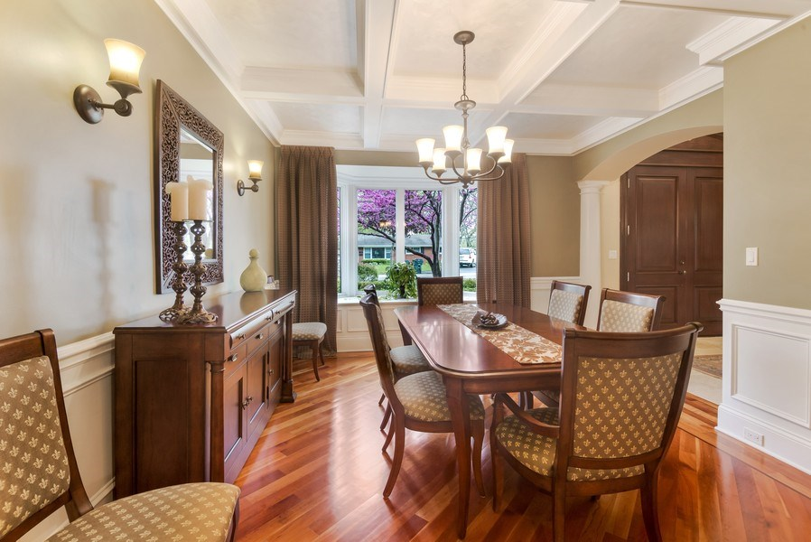 Real Estate Photography - 3703 Springdale Ave, Glenview, IL, 60025 - Dining Room