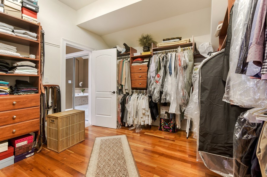 Real Estate Photography - 3703 Springdale Ave, Glenview, IL, 60025 - Master Walk-in Closet