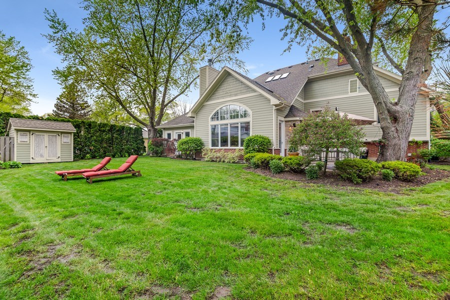 Real Estate Photography - 3703 Springdale Ave, Glenview, IL, 60025 - Huge Back Yard with Additional Storage in Shed