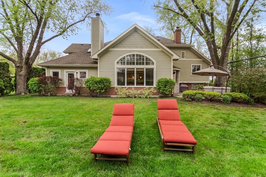 Real Estate Photography - 3703 Springdale Ave, Glenview, IL, 60025 - Sweeping Back Yard