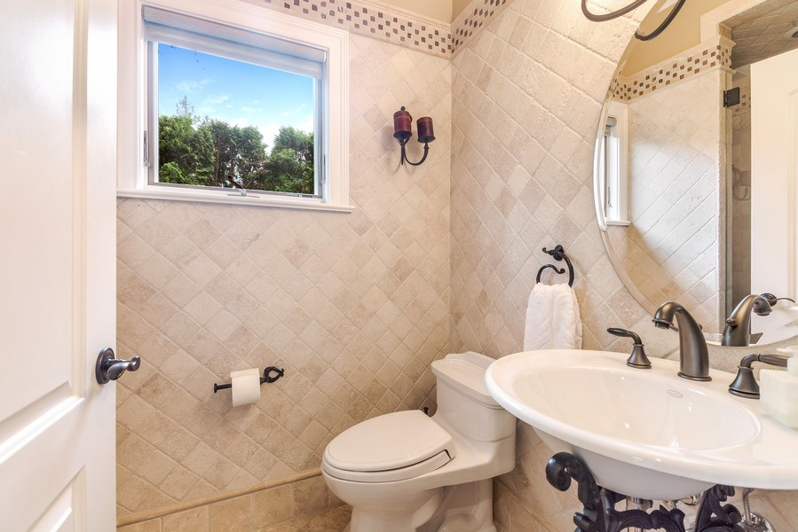 Real Estate Photography - 3703 Springdale Ave, Glenview, IL, 60025 - First Level Full Bath