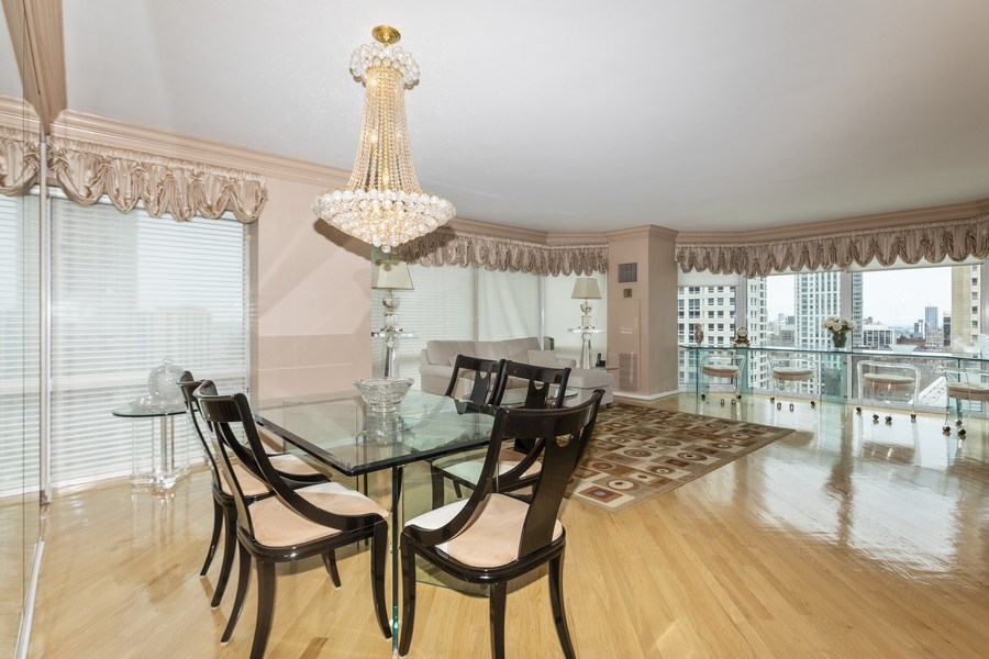 Real Estate Photography - 100 E. Huron Street, Unit 1802, Chicago, IL, 60611 - Dining Room