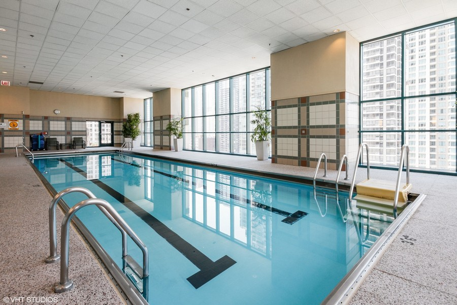 Real Estate Photography - 100 E. Huron Street, Unit 1802, Chicago, IL, 60611 - Pool