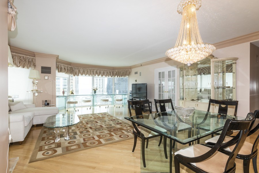 Real Estate Photography - 100 E. Huron Street, Unit 1802, Chicago, IL, 60611 - Living Room / Dining Room