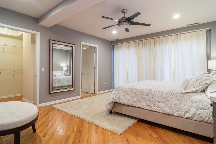 Real Estate Photography - 433 N. Wells Street, Unit 202, Chicago, IL, 60654 - Master Bedroom