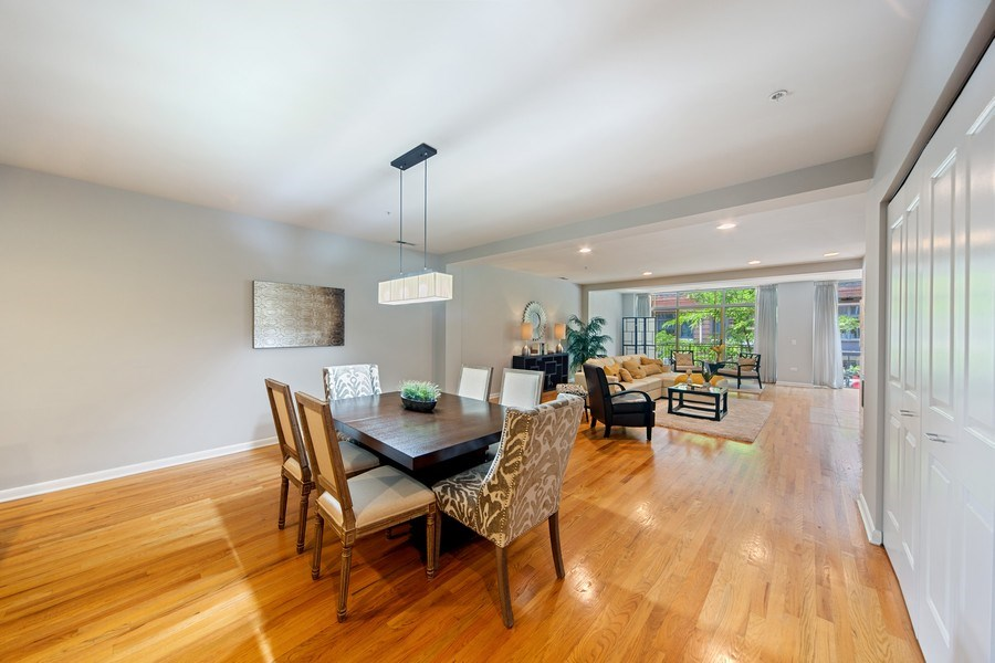 Real Estate Photography - 433 N. Wells Street, Unit 202, Chicago, IL, 60654 - Dining Room