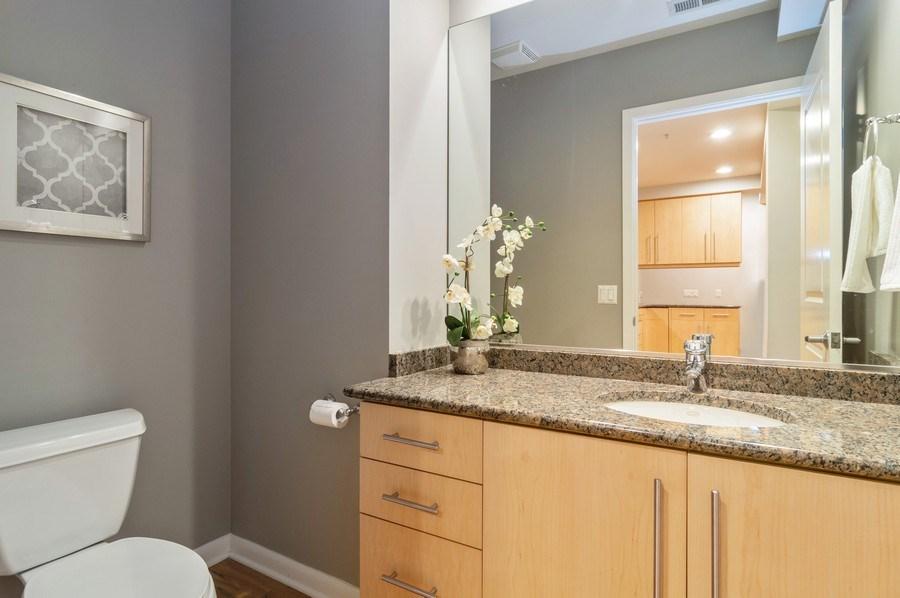 Real Estate Photography - 433 N. Wells Street, Unit 202, Chicago, IL, 60654 - Half Bath