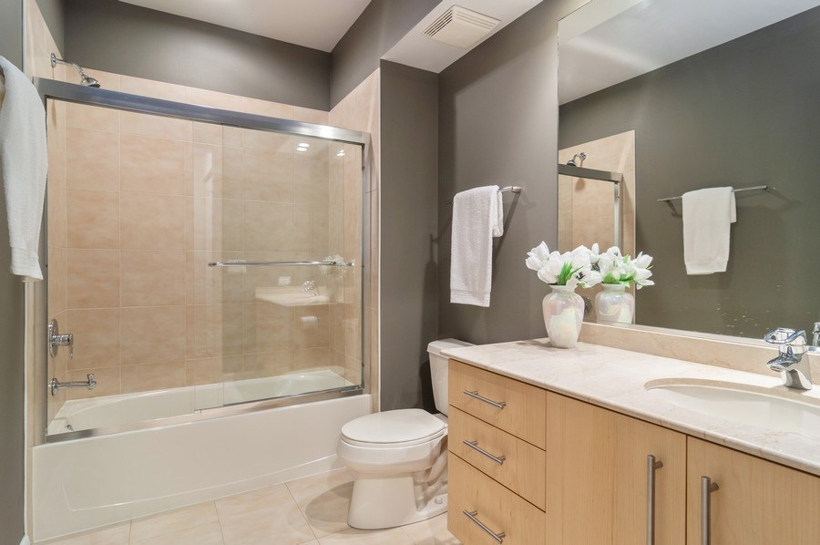 Real Estate Photography - 433 N. Wells Street, Unit 202, Chicago, IL, 60654 - Bathroom