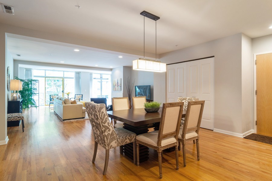 Real Estate Photography - 433 N. Wells Street, Unit 202, Chicago, IL, 60654 - Living Room/Dining Room