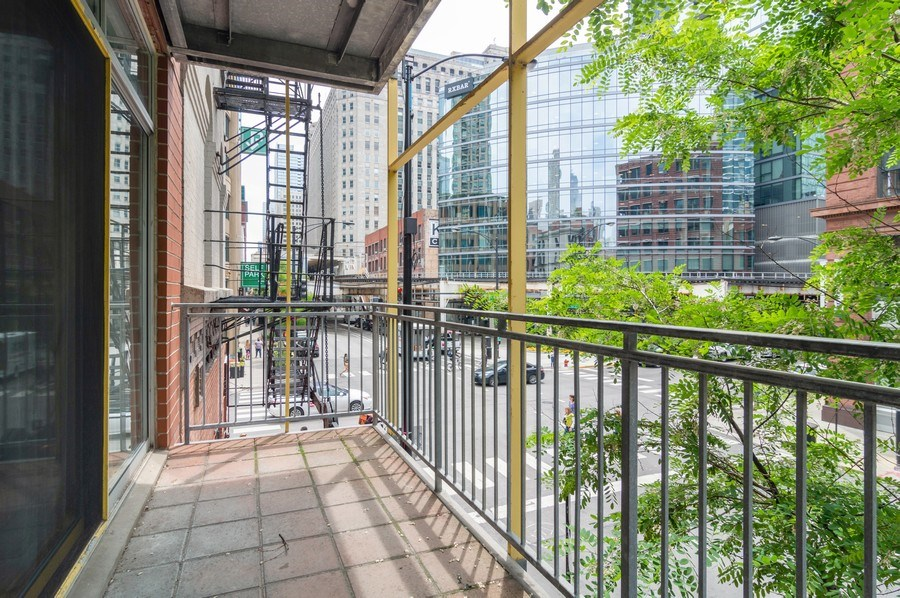 Real Estate Photography - 433 N. Wells Street, Unit 202, Chicago, IL, 60654 - Balcony