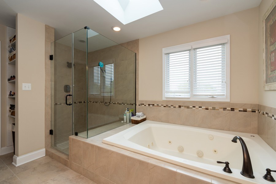 Real Estate Photography - 4956 Paxton Road, Oak Lawn, IL, 60453 - Master Bathroom