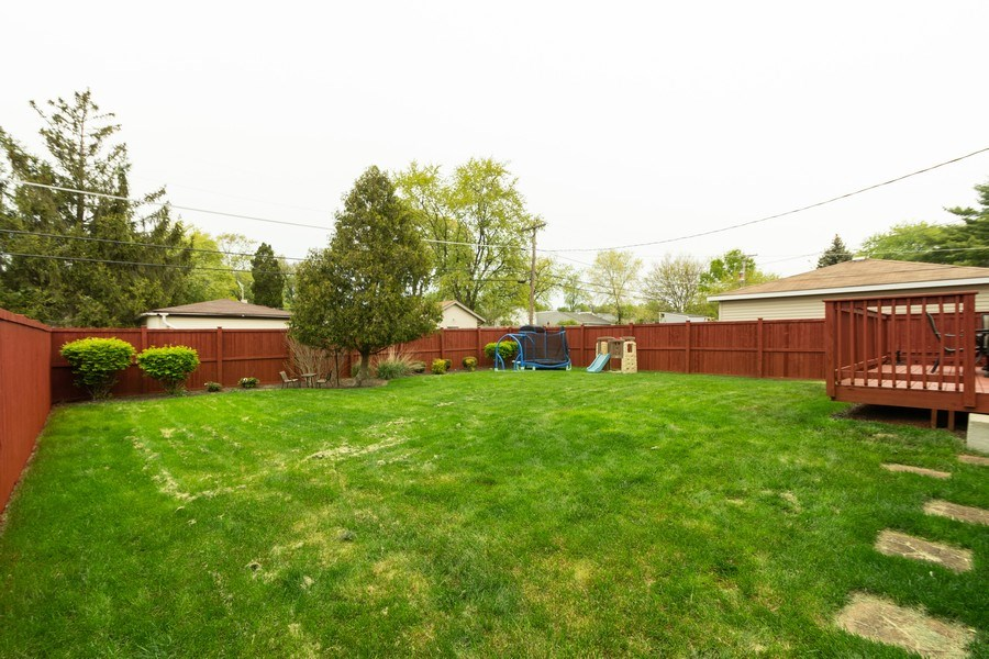 Real Estate Photography - 4956 Paxton Road, Oak Lawn, IL, 60453 - Back Yard