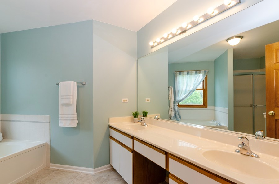 Real Estate Photography - 1210 Alexandra Boulevard, Crystal Lake, IL, 60014 - Master Bathroom